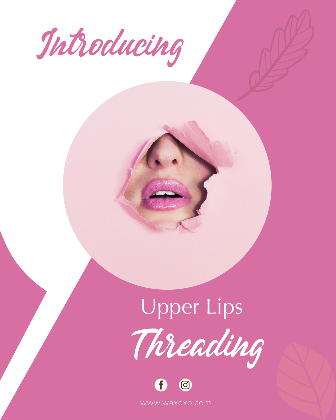 uper lips threading at waxoxo sugaring waxbar